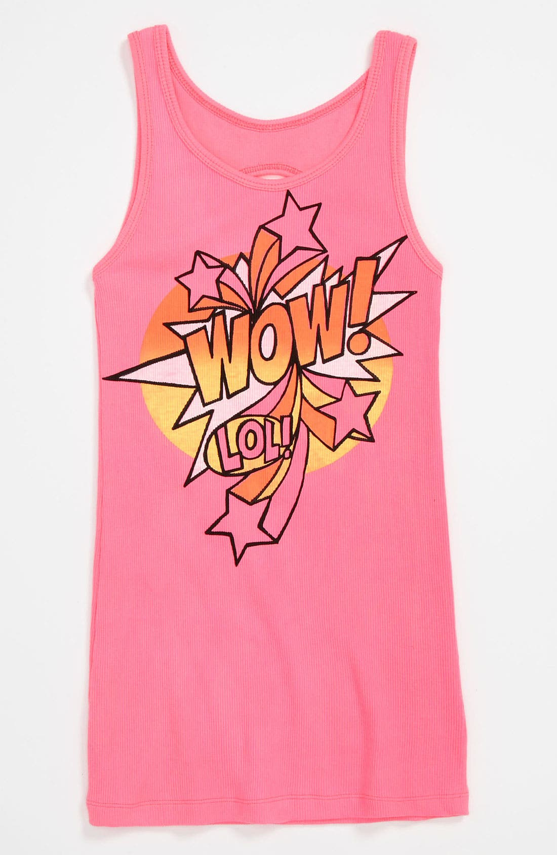 Main Image - Flowers by Zoe 'Wow' Tank Top (Big Girls)