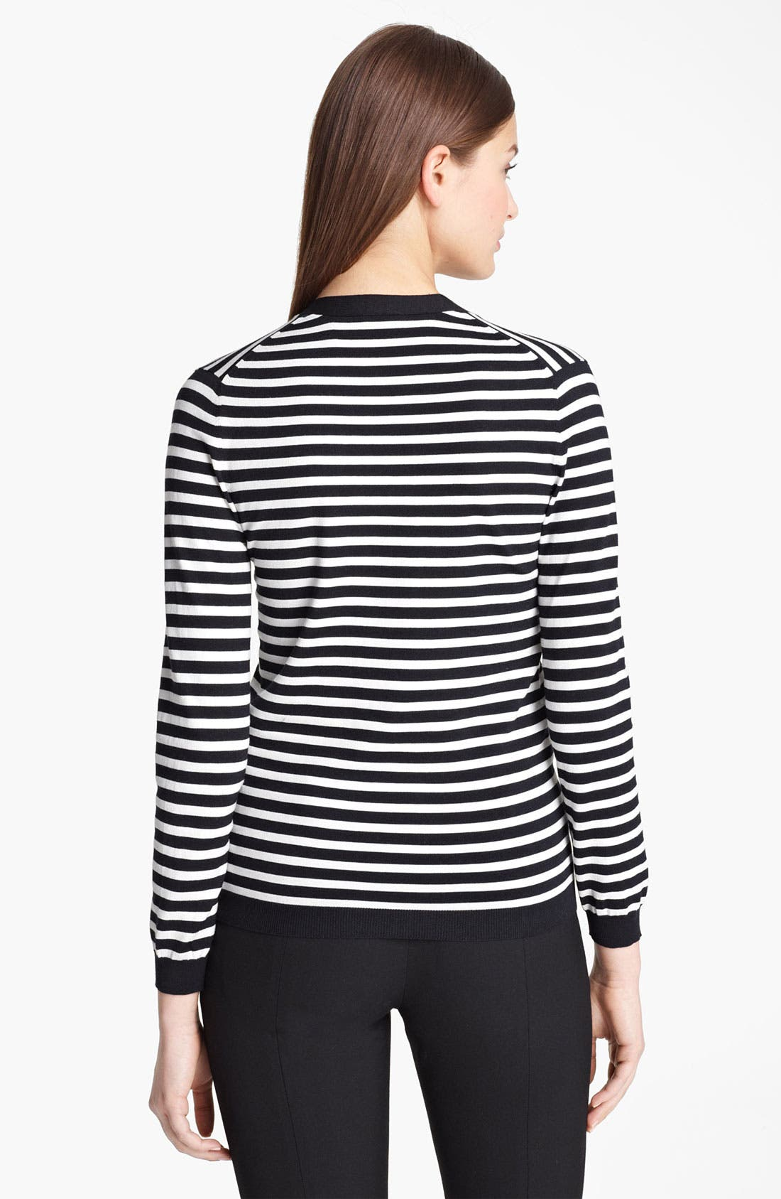 Alternate Image 2  - Jil Sander Navy Stripe Stretch Knit Cardigan