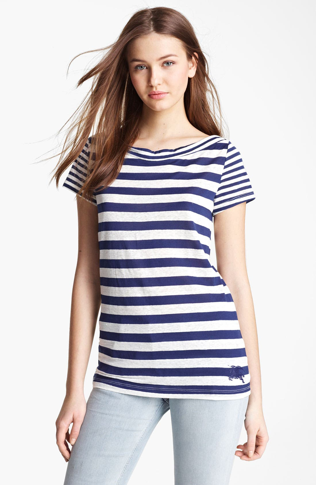 Main Image - Burberry Brit Stripe Short Sleeve Tee (Online Only)