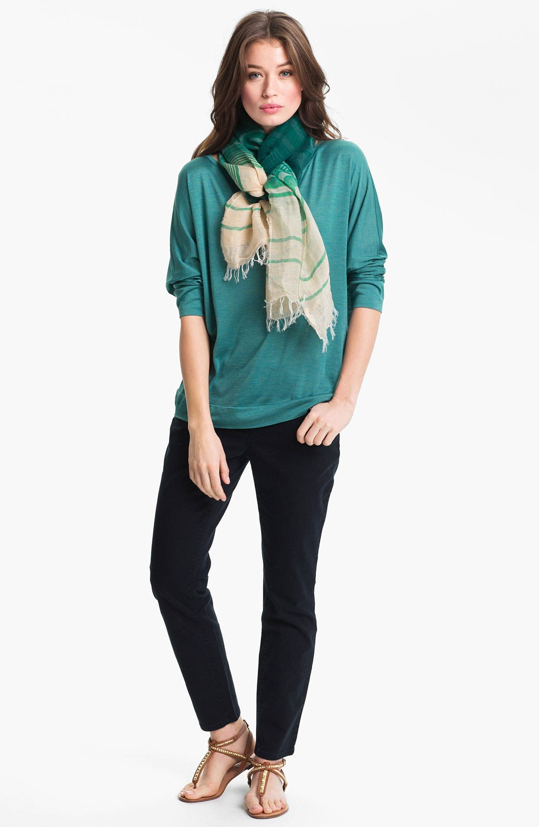 Alternate Image 3  - Eileen Fisher Woven Stripe Scarf