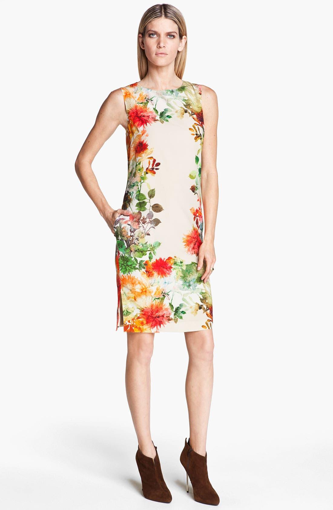 Alternate Image 1 Selected - St. John Collection Verbena Print Silk Dress