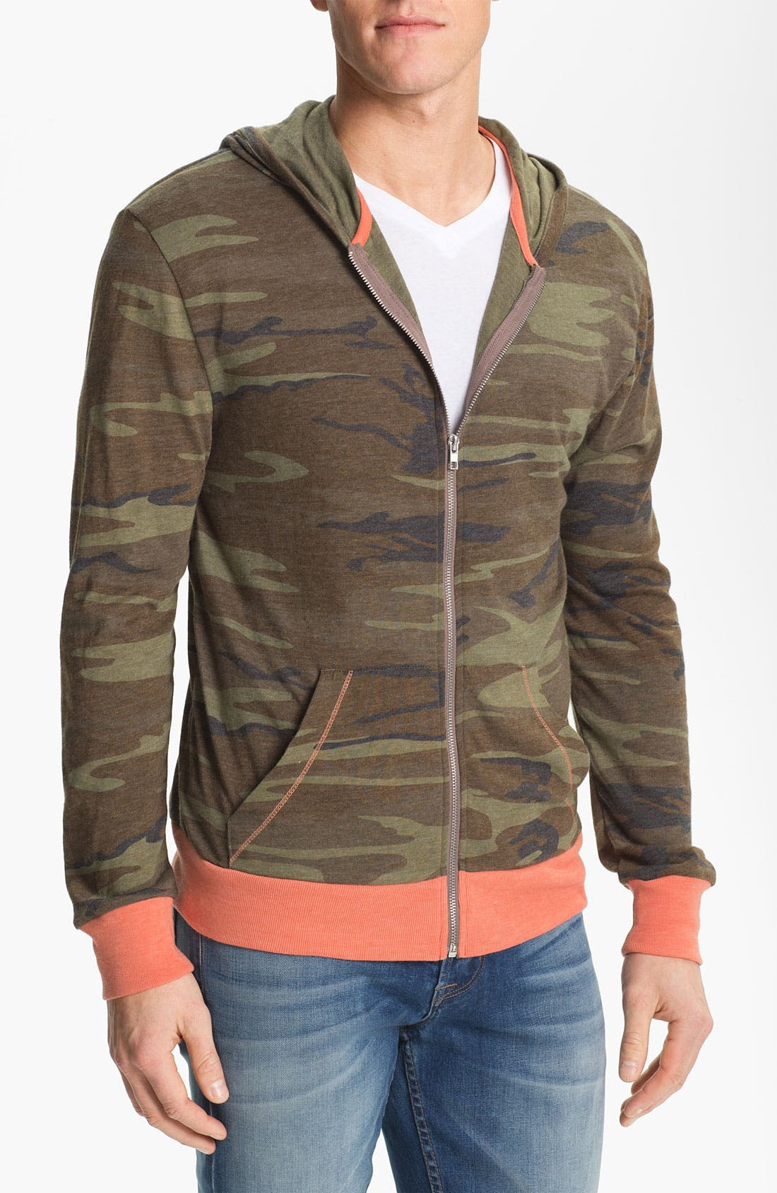 Alternate Image 1 Selected - Alternative Camo Print Zip Hoodie