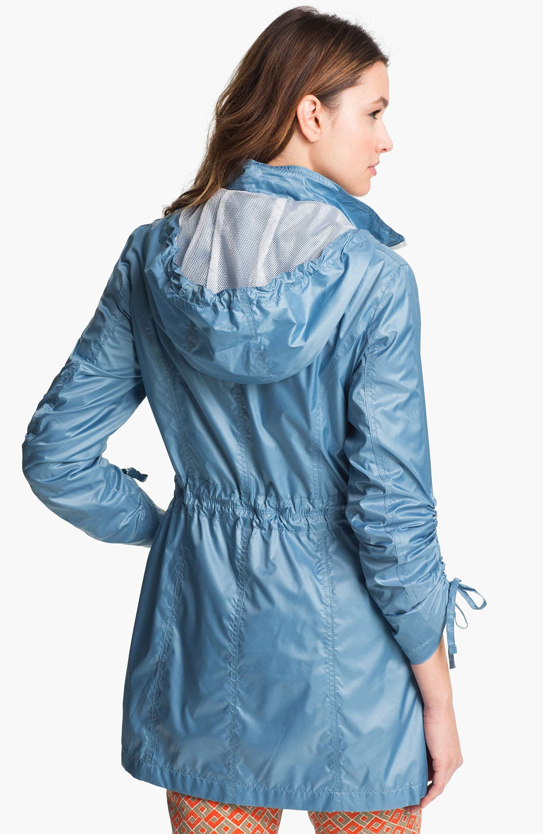 Alternate Image 3  - Laundry by Shelli Segal Drawstring Sleeve Packable Anorak