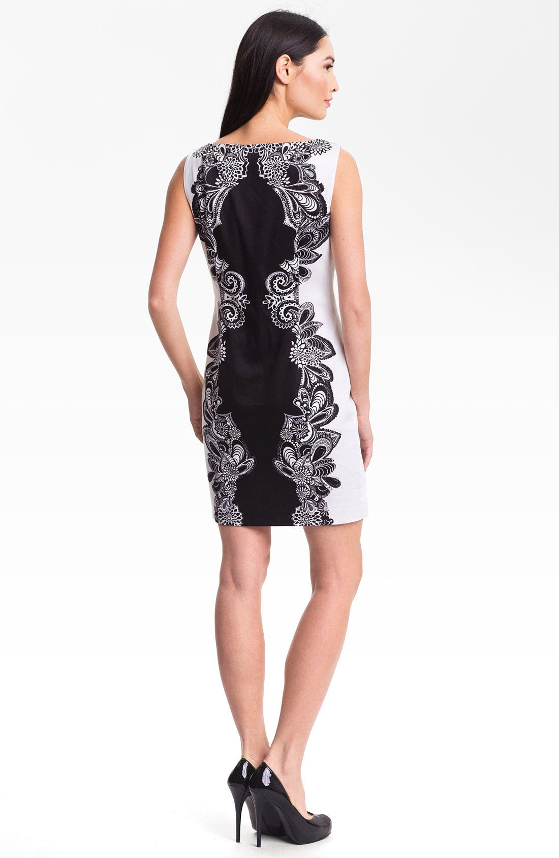 Alternate Image 2  - Adrianna Papell Placed Print Shift Dress