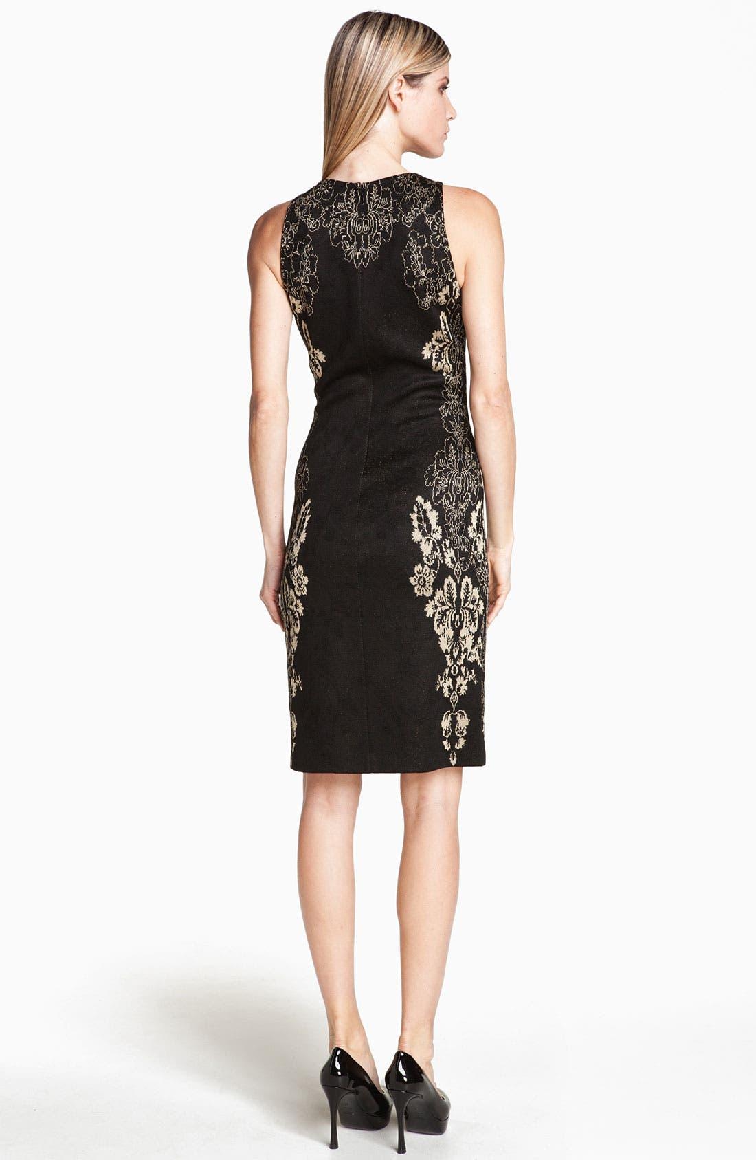 Alternate Image 3  - St. John Collection Floral Jacquard Knit Sheath Dress