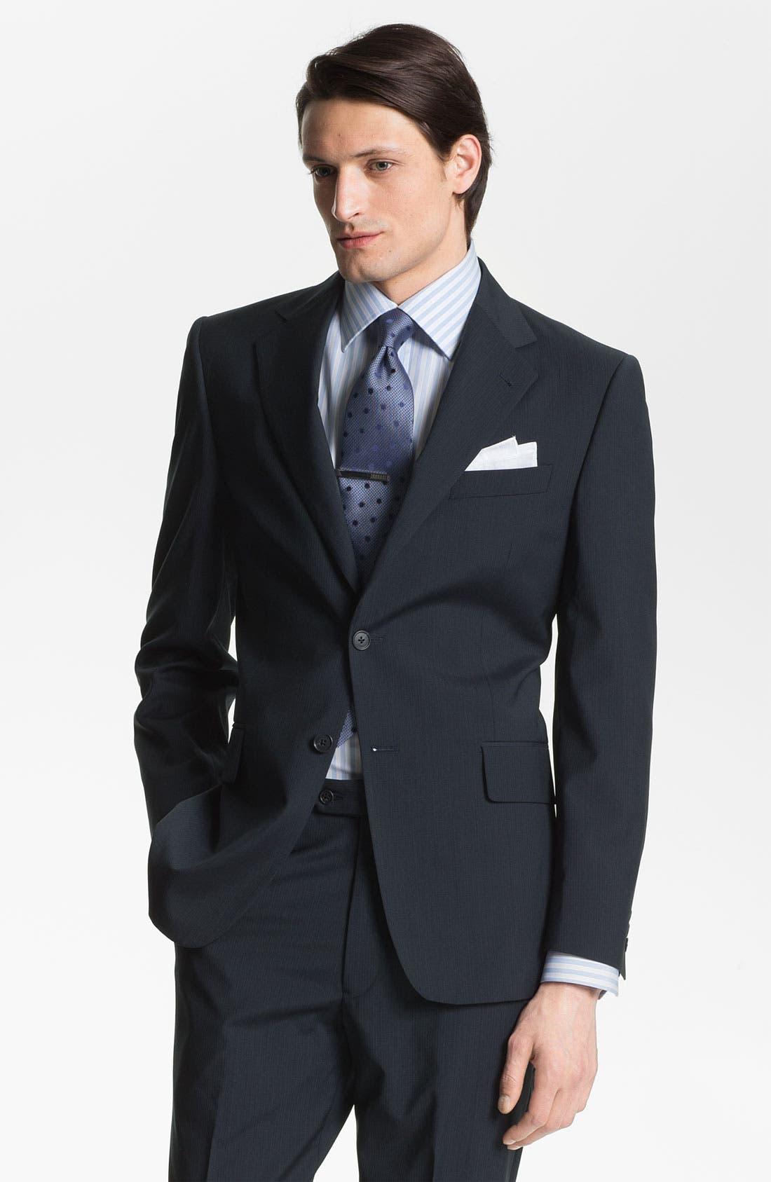 Alternate Image 1 Selected - Joseph Abboud 'Signature Silver' Wool Suit