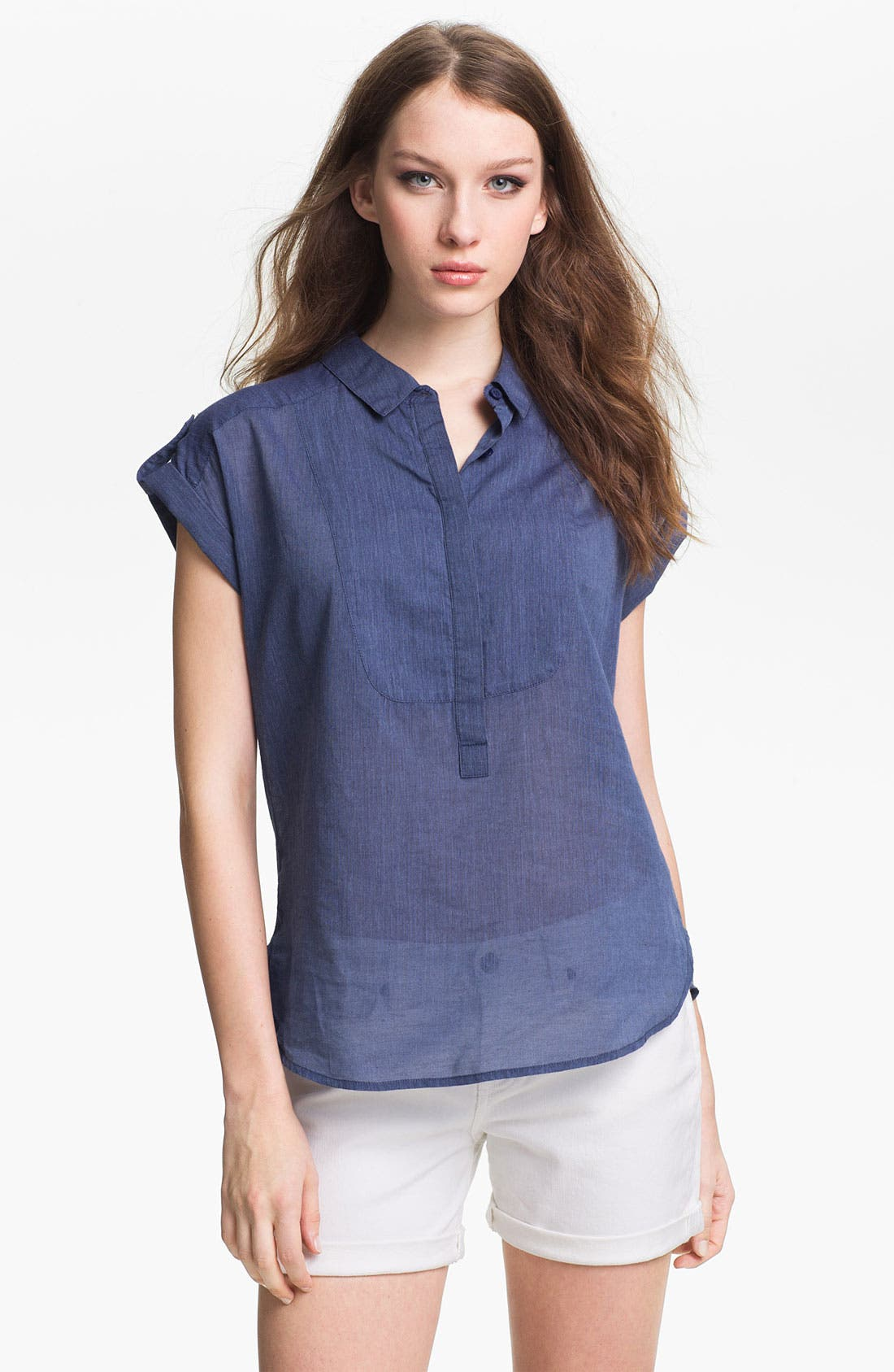 Alternate Image 1 Selected - Caslon® Roll Sleeve Shirt