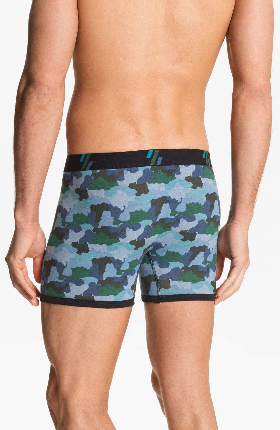 Alternate Image 2  - Basic Underwear Boxer Briefs (3-Pack)