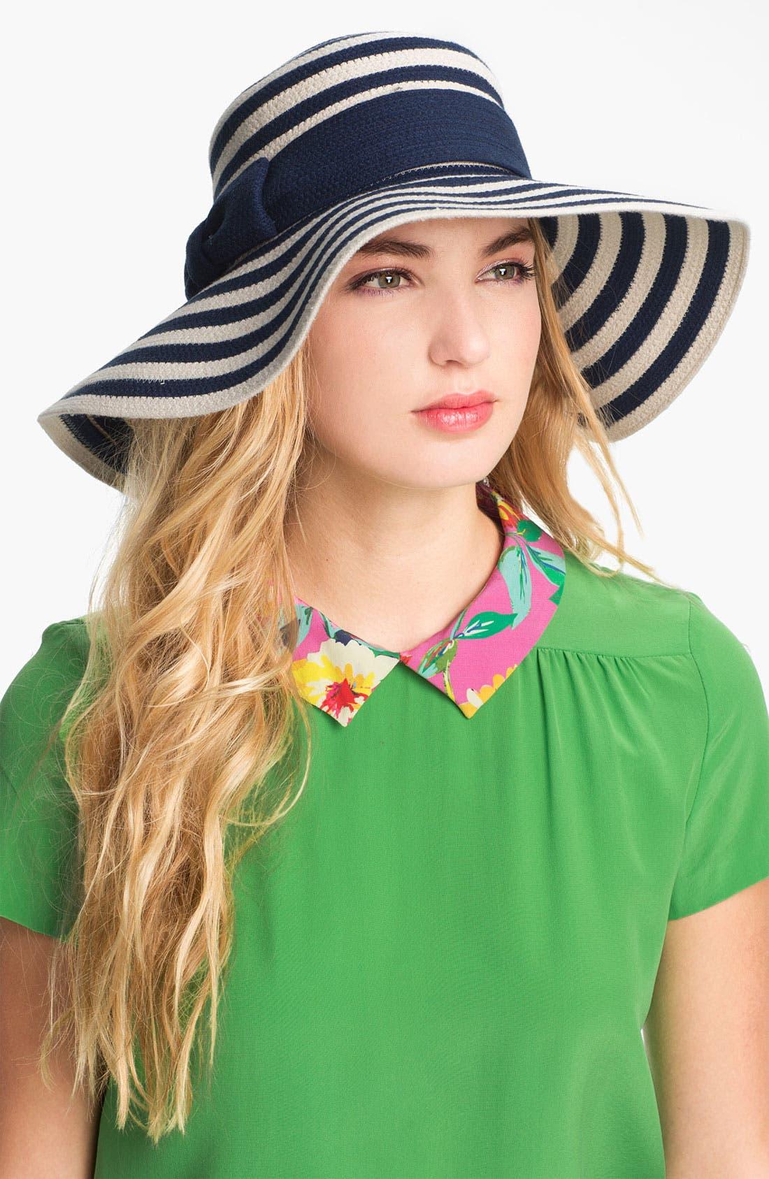 Alternate Image 1 Selected - kate spade new york stripe sun hat