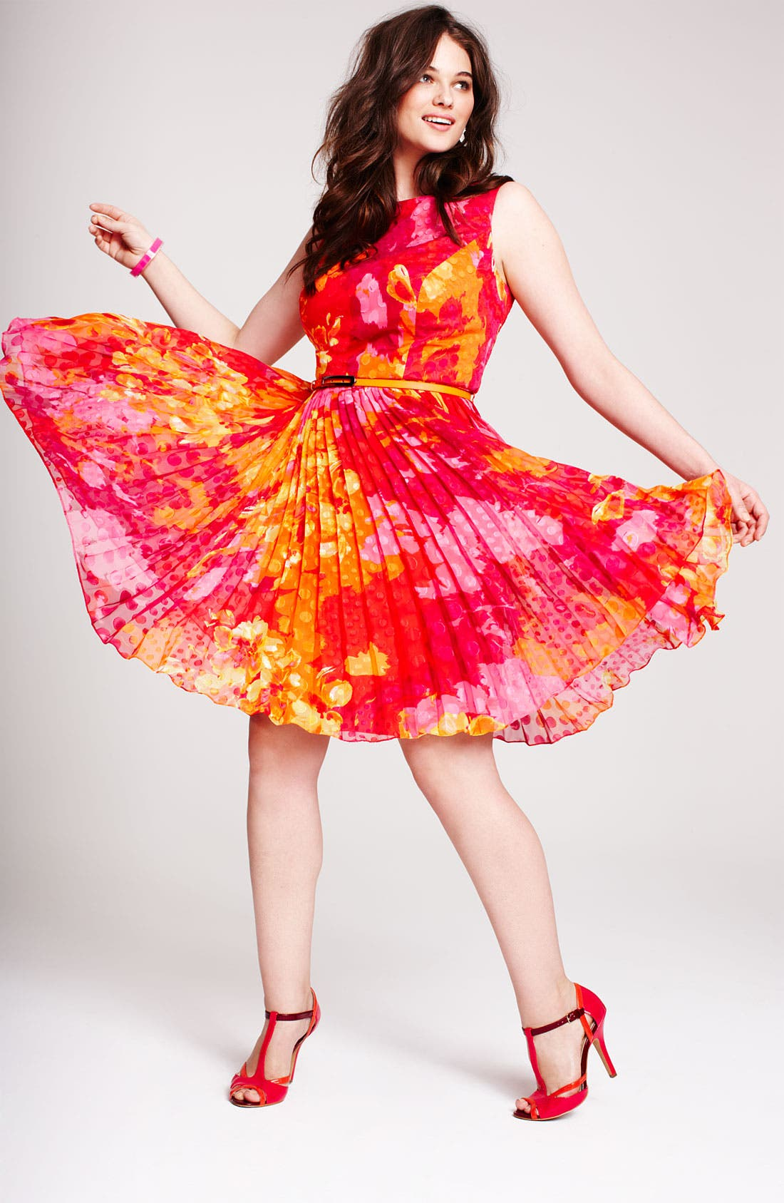 Alternate Image 4  - Adrianna Papell Print Fit & Flare Dress (Plus Size)