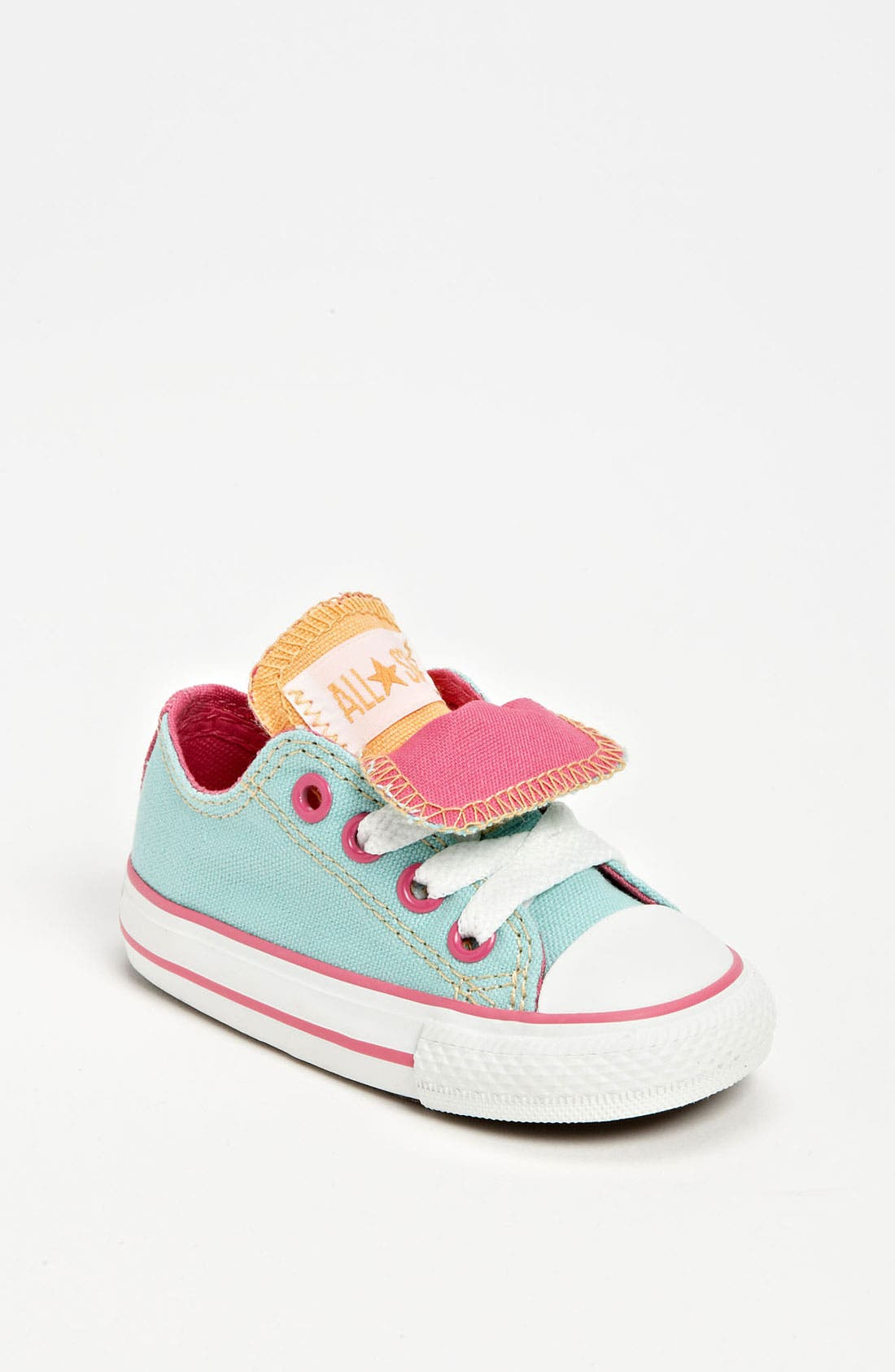 Alternate Image 1 Selected - Converse Chuck Taylor® Double Tongue Sneaker (Baby, Walker & Toddler)