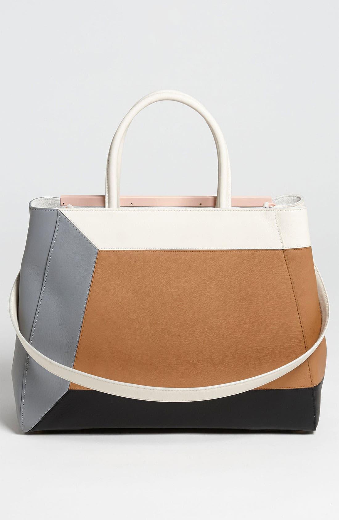 Alternate Image 4  - Fendi '2Jours 3D - Medium' Leather Shopper