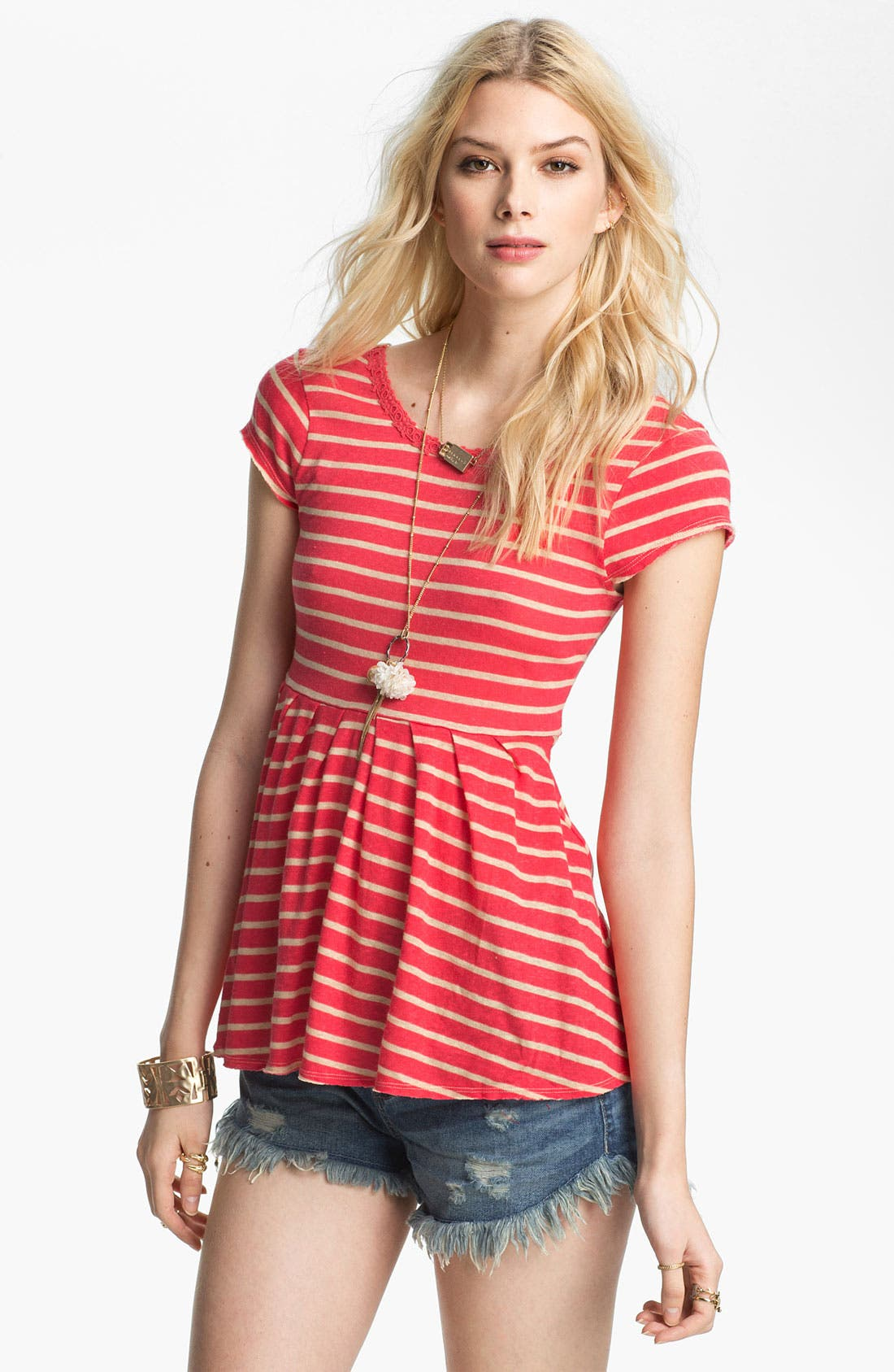 Alternate Image 1 Selected - Free People 'Crazy Daisy' Peplum Tee