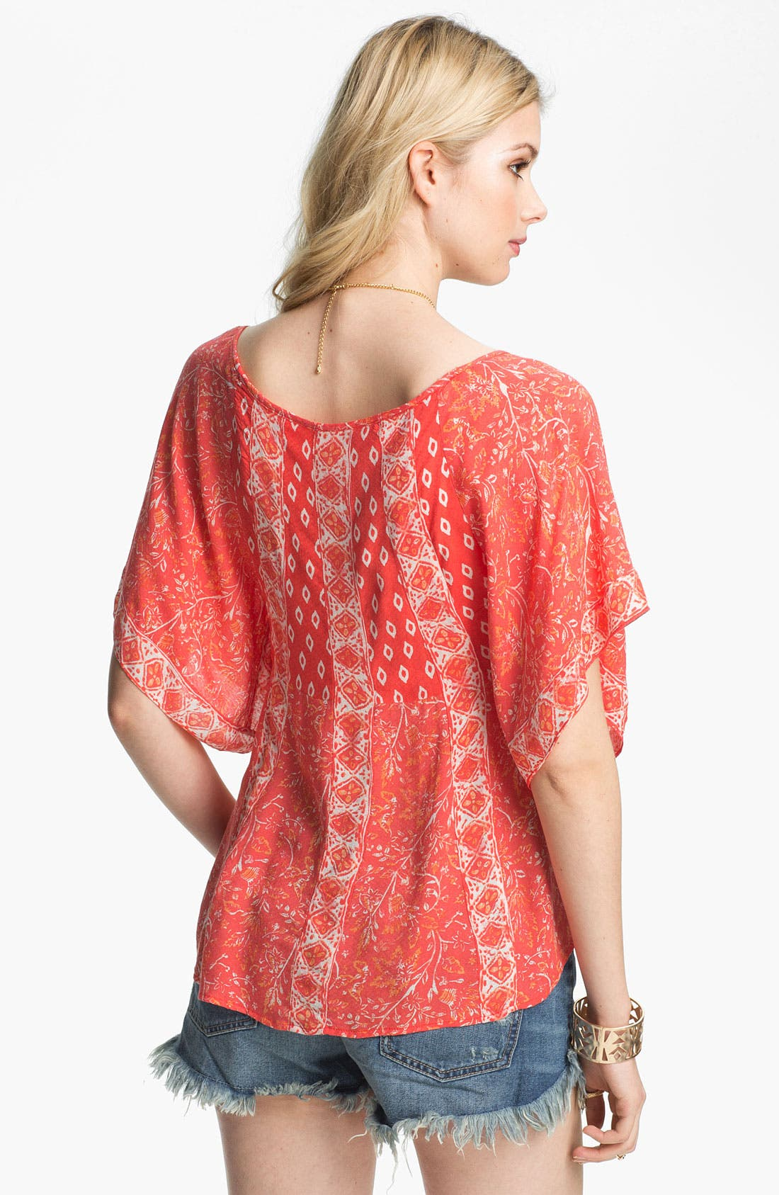 Alternate Image 2  - Free People 'Mix It Up' Print Butterfly Top