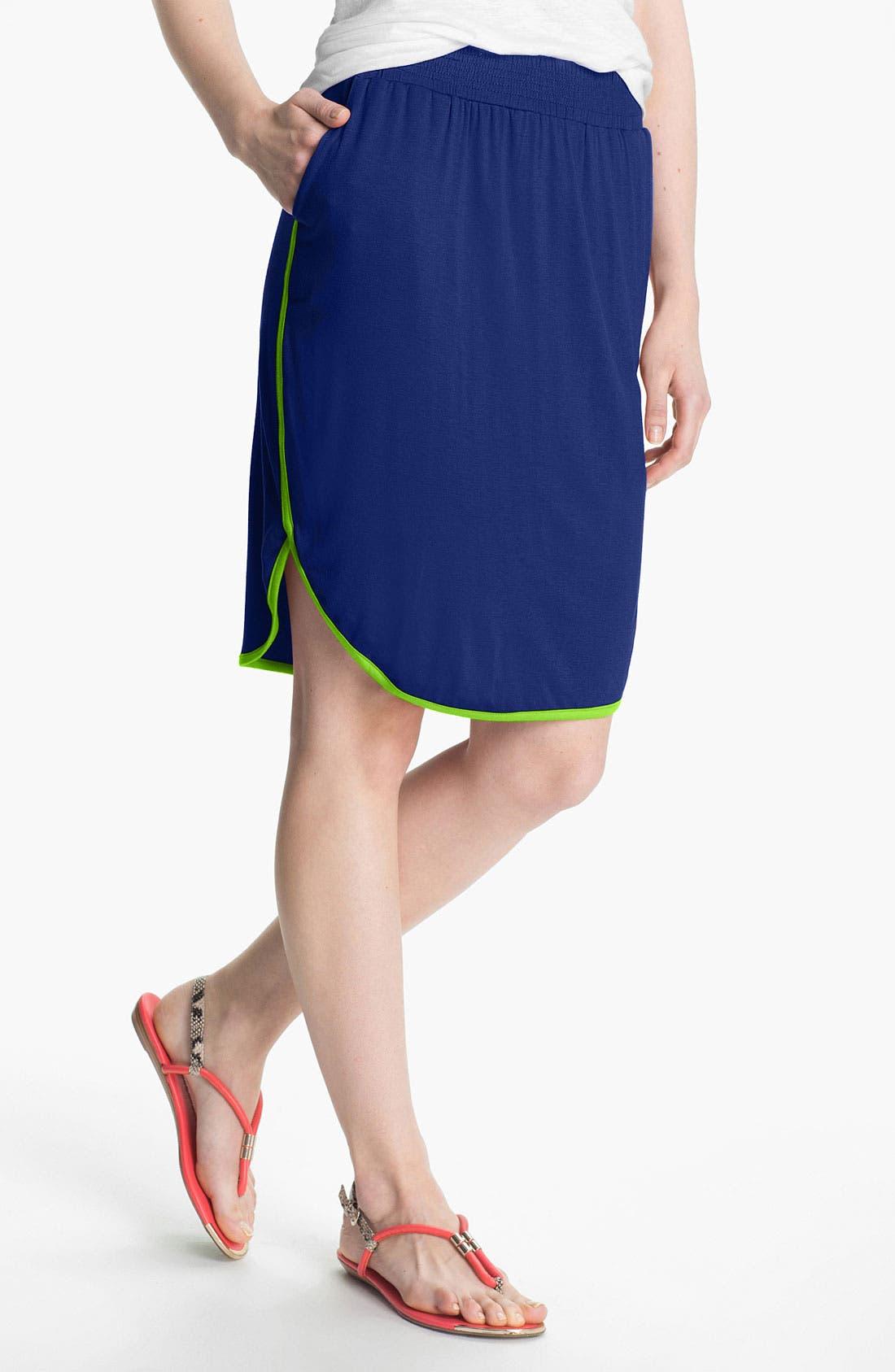 Main Image - Olivia Moon Dolphin Hem Skirt