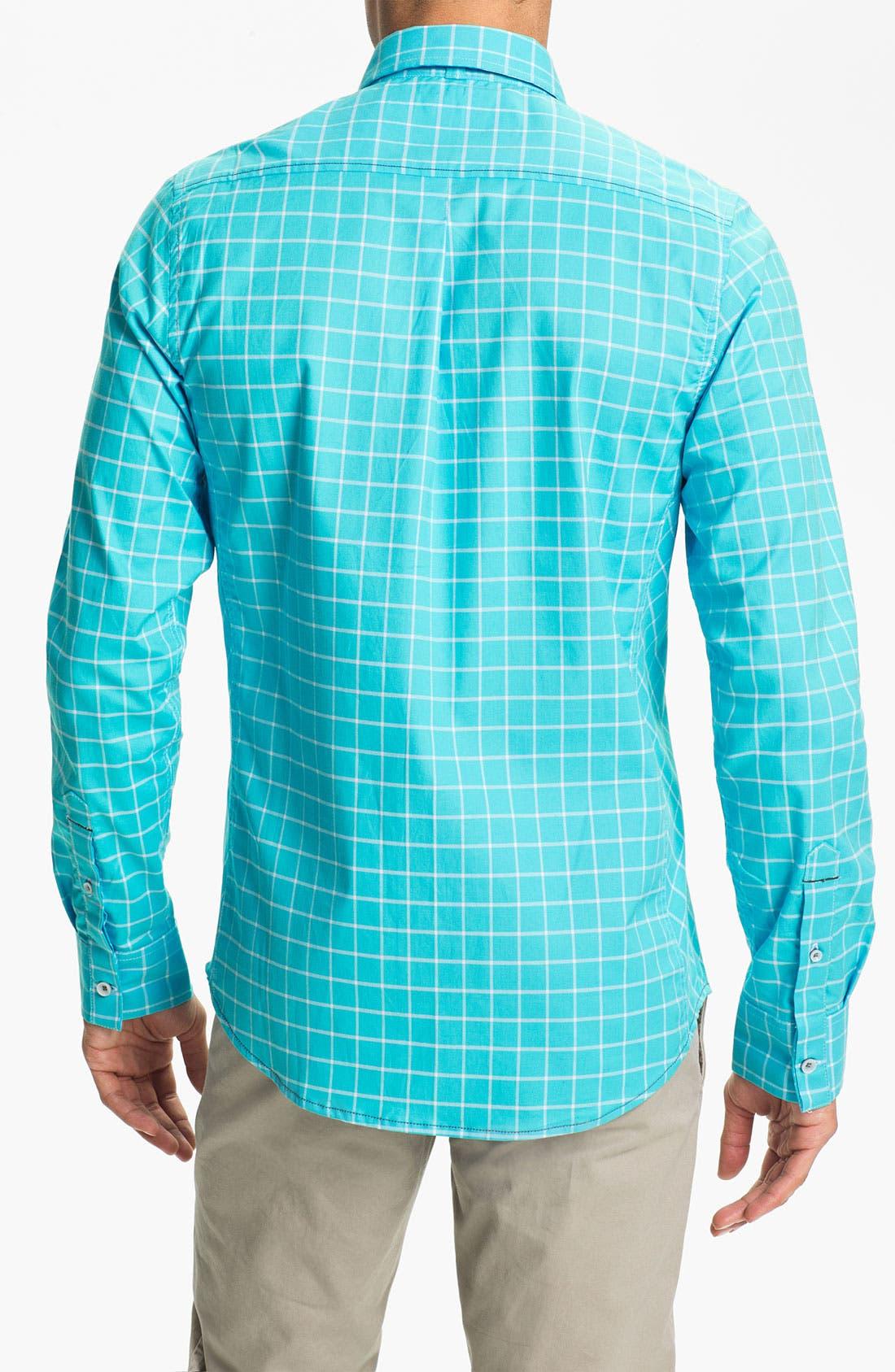 Alternate Image 2  - Descendant of Thieves Windowpane Woven Shirt