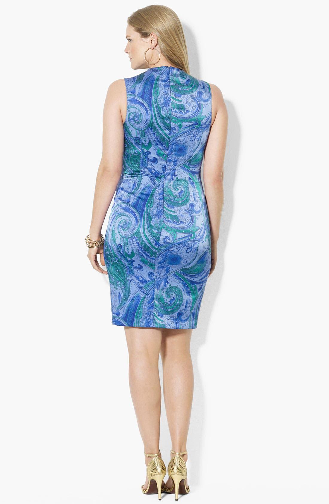 Alternate Image 2  - Lauren Ralph Lauren Print Sheath Dress (Plus Size)