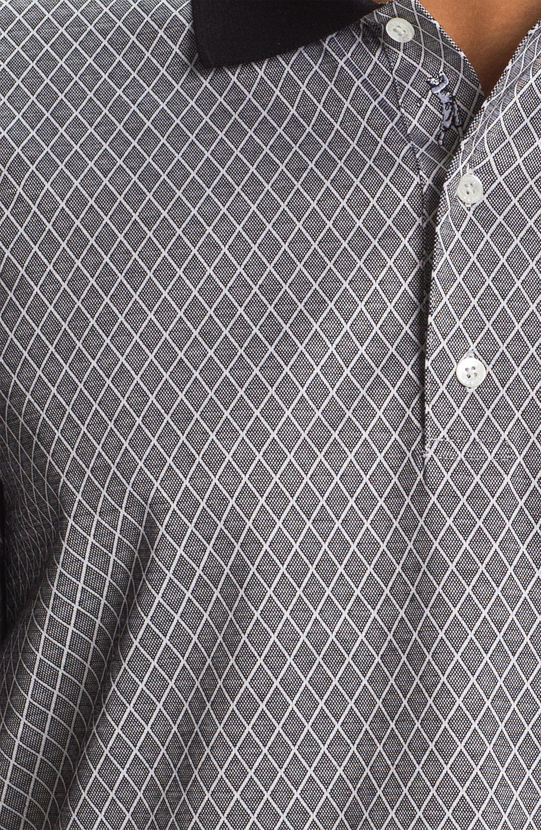 Alternate Image 3  - Bobby Jones Bird's Eye Jacquard Polo
