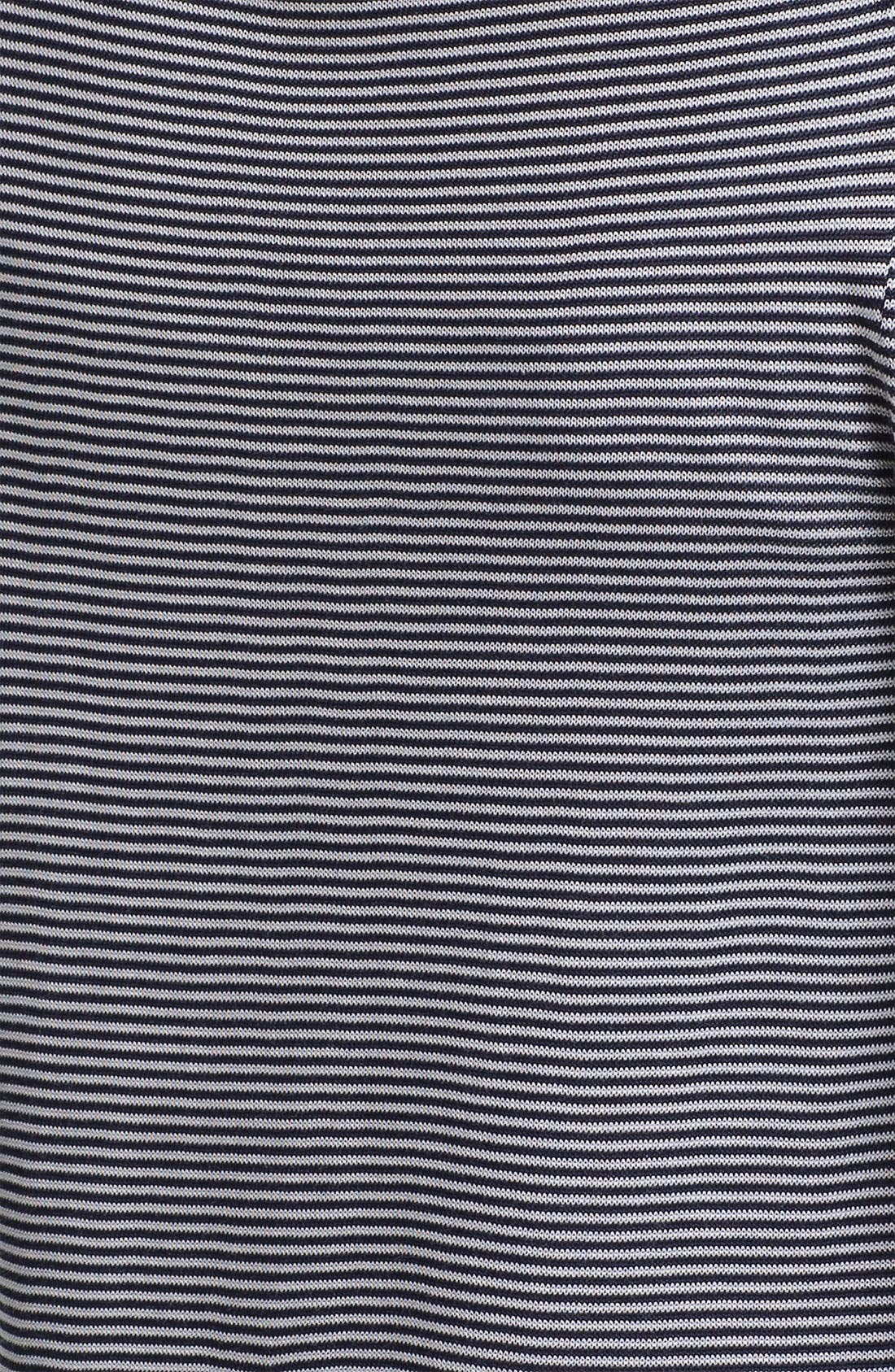 Alternate Image 3  - Anne Klein Three Quarter Sleeve Stripe Cardigan