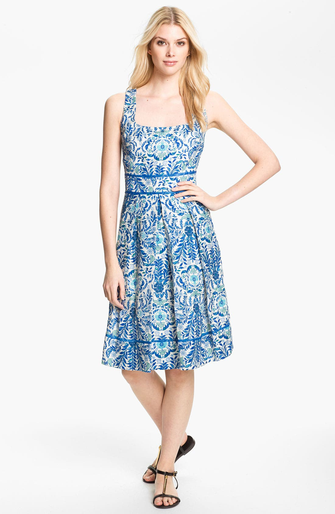 Alternate Image 1 Selected - Tory Burch 'Ramona' Woven Fit & Flare Dress
