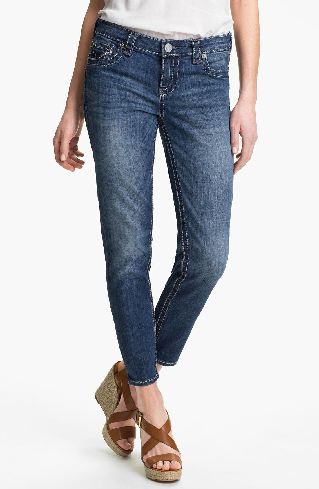 Alternate Image 1 Selected - KUT from the Kloth 'Brigitte' Skinny Ankle Jeans (Exceptional)