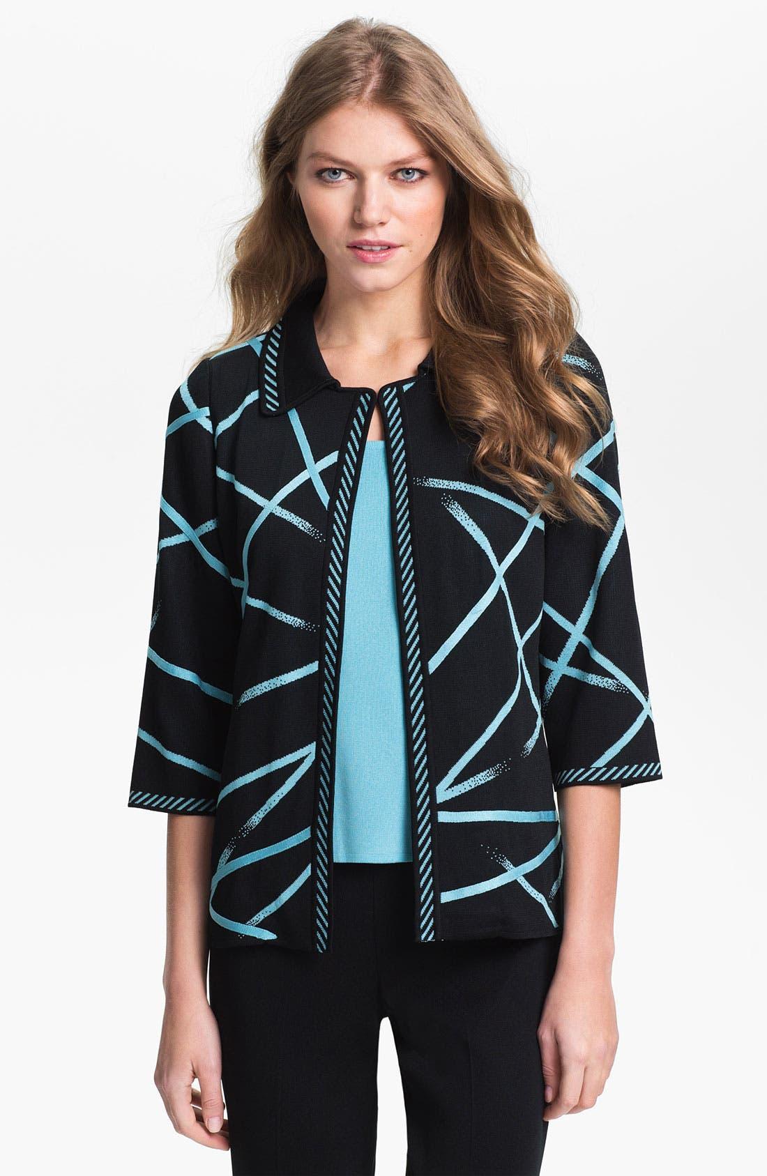 Main Image - Ming Wang Three Quarter Sleeve Jacket