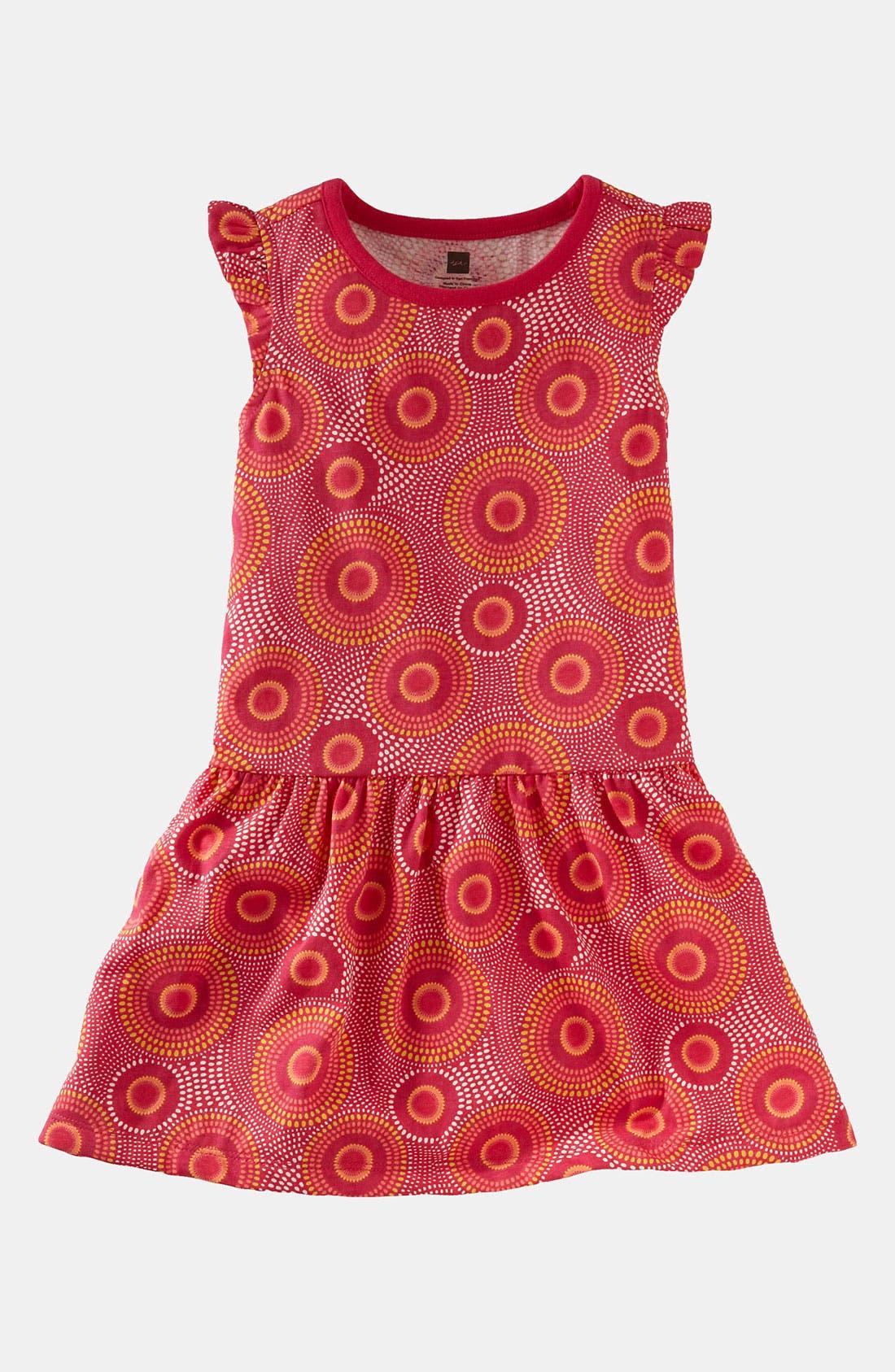 Main Image - Tea Collection 'Elm' Flutter Dress (Infant)