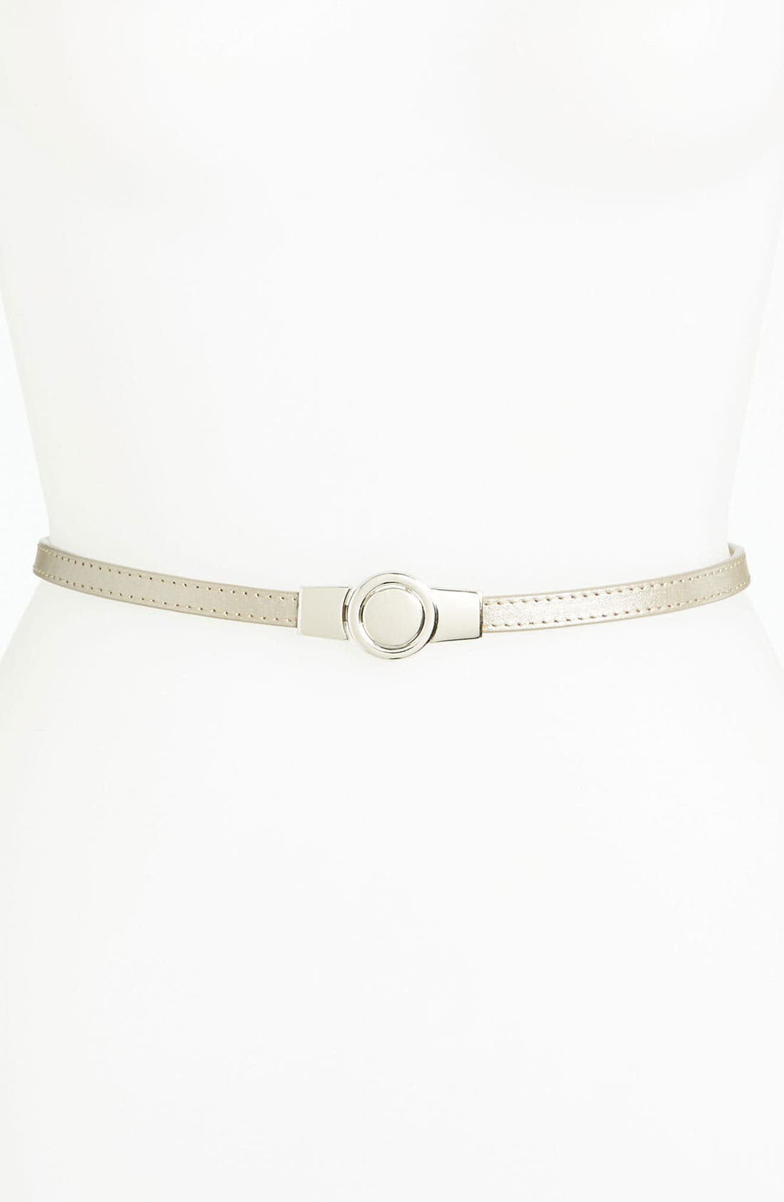Main Image - Lafayette 148 New York Skinny Leather Belt