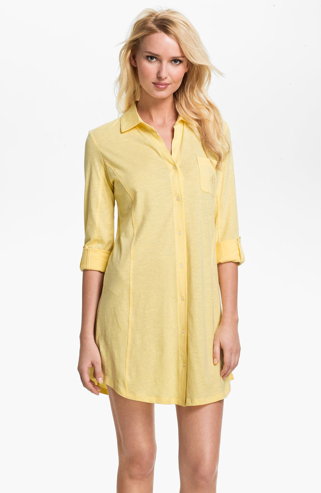 Alternate Image 1 Selected - Lauren Ralph Lauren Knit Nightshirt