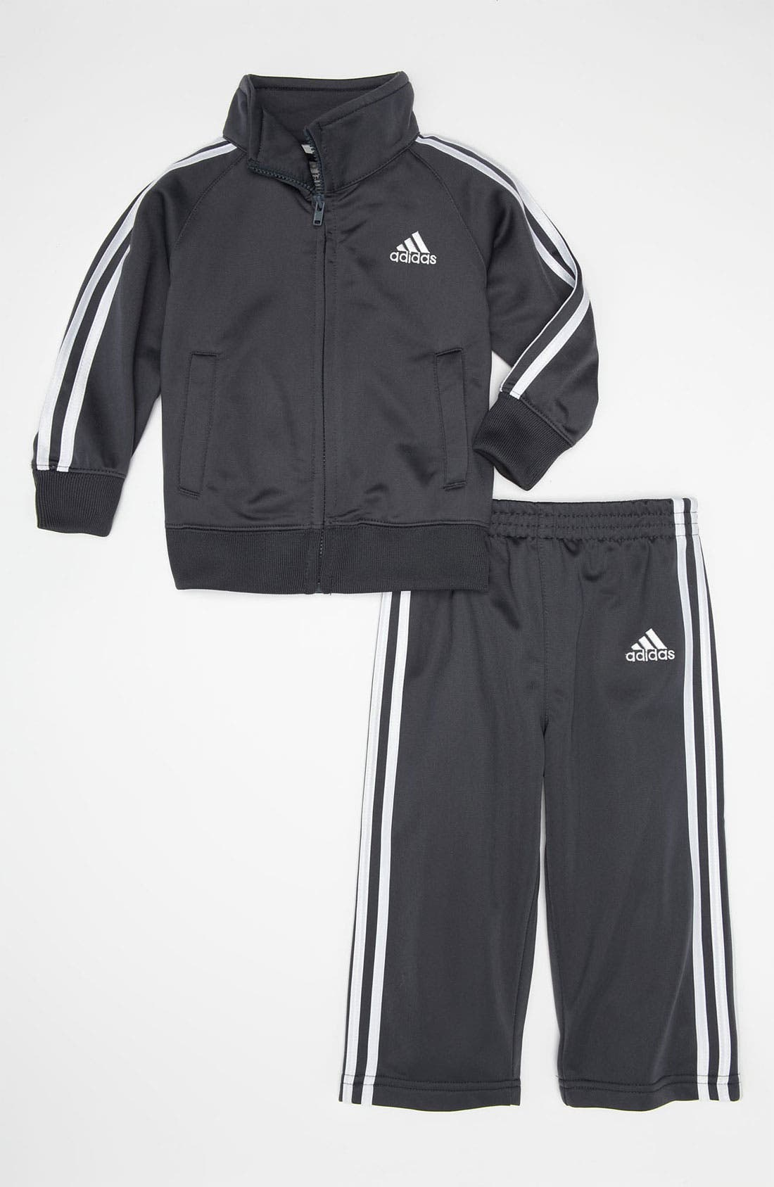 Main Image - adidas Tricot Jacket & Pants (Infant)