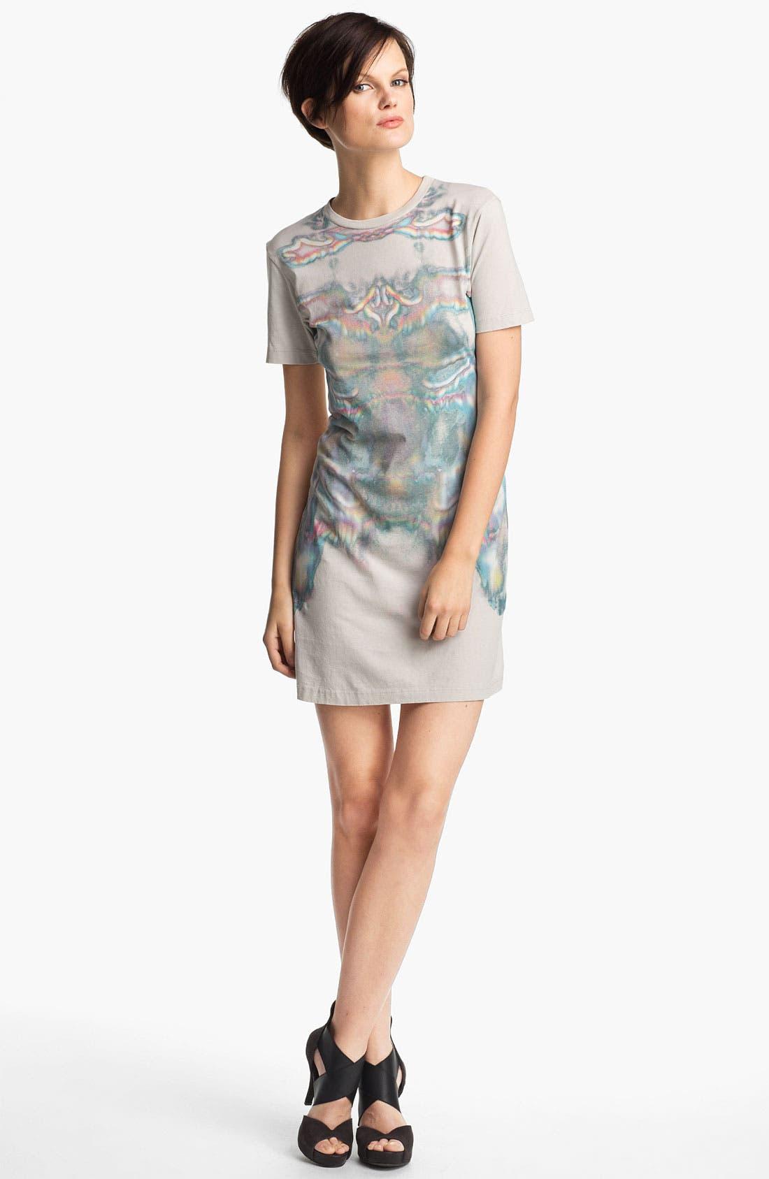 Main Image - Theyskens' Theory 'Cherry Isobek' Jersey T-Shirt Dress