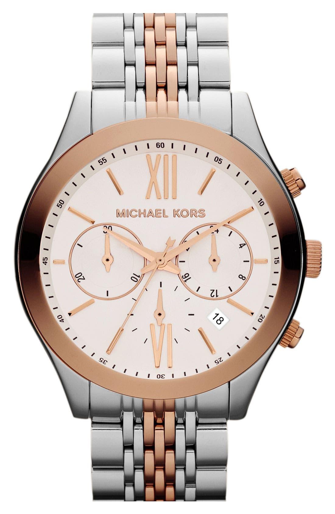 Alternate Image 1 Selected - Michael Kors 'Brookton' Chronograph Bracelet Watch, 42mm