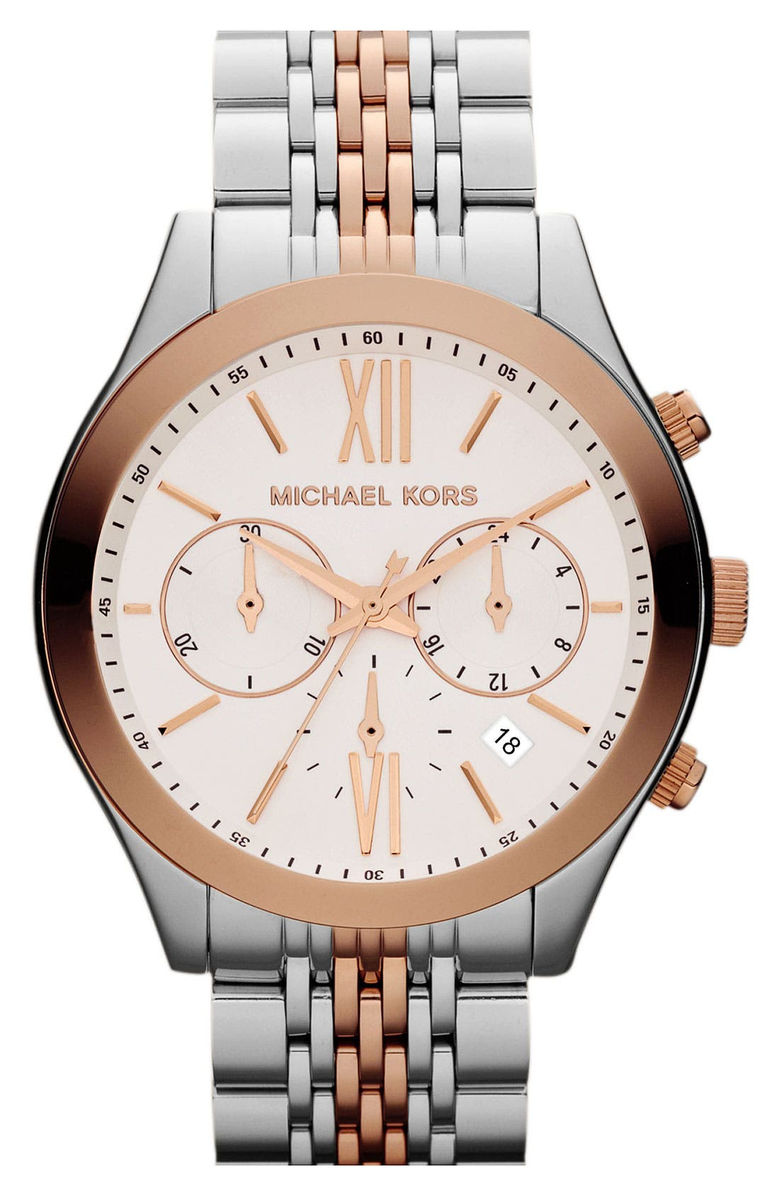 Main Image - Michael Kors 'Brookton' Chronograph Bracelet Watch, 42mm