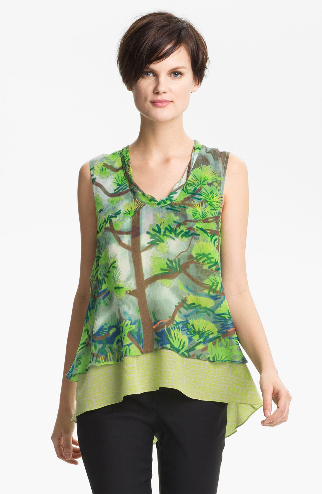 Alternate Image 1 Selected - Tracy Reese Layered Print Tank