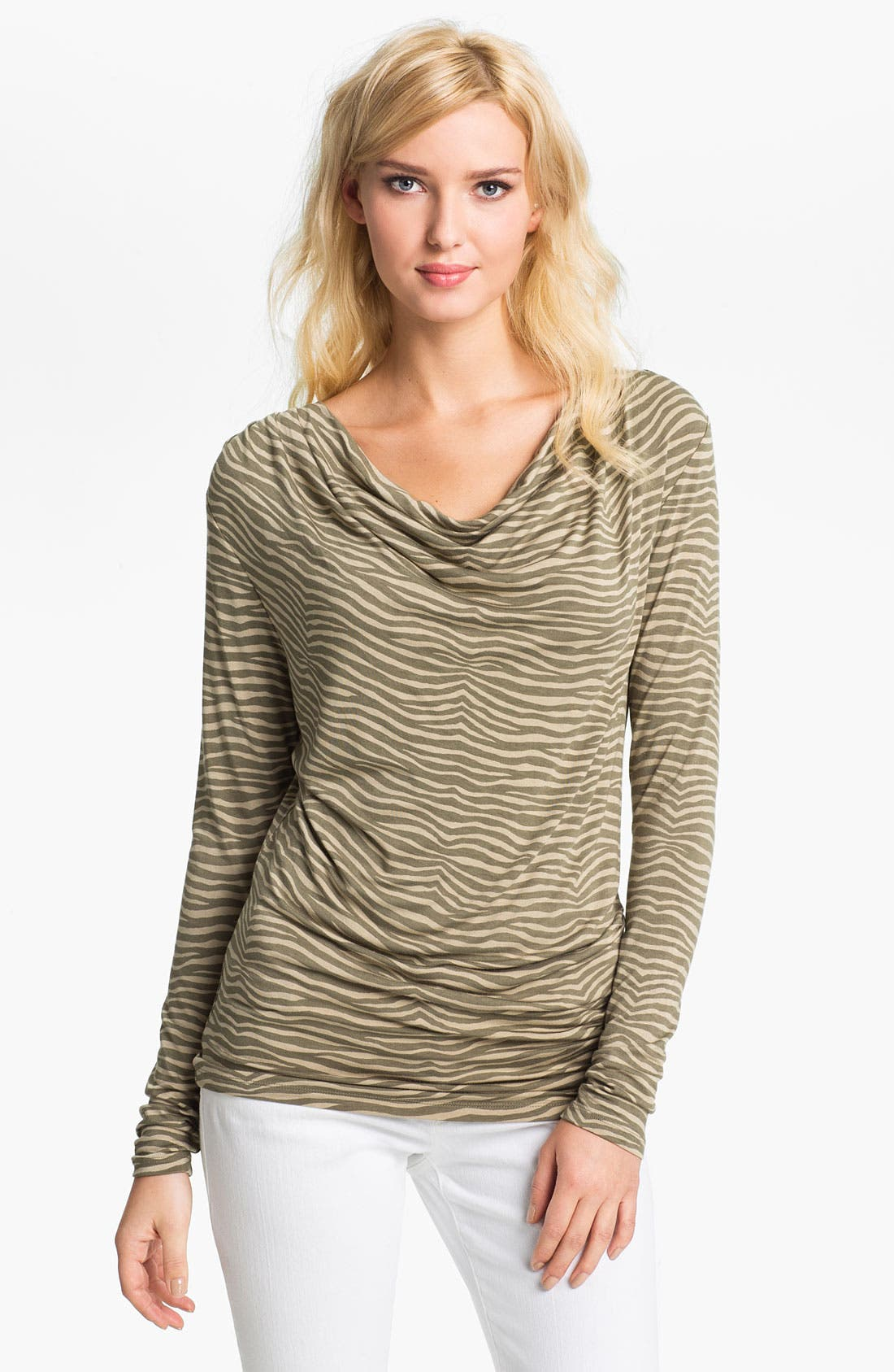 Alternate Image 1 Selected - MICHAEL Michael Kors Animal Print Top