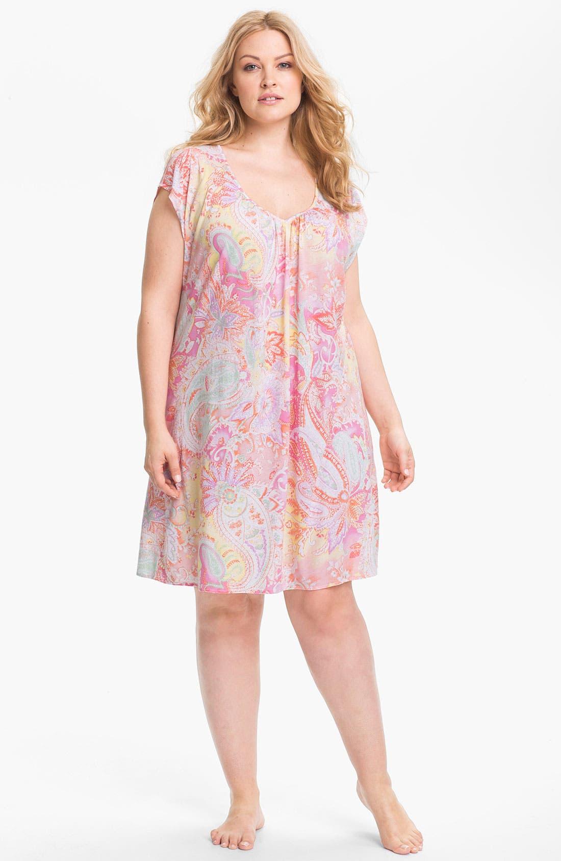 Alternate Image 3  - Lauren Ralph Lauren Sleepwear Knit Nightgown (Plus)