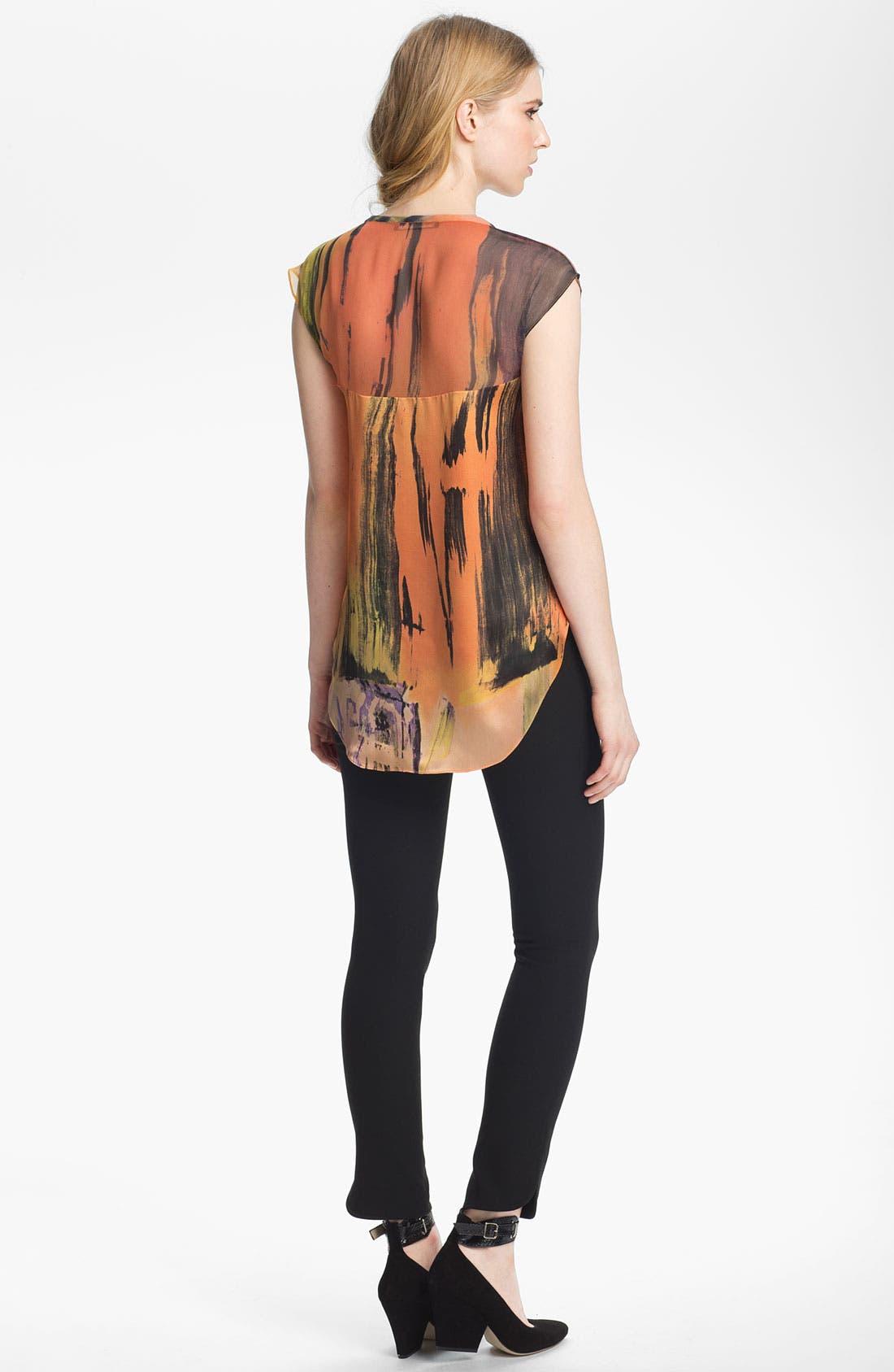 Alternate Image 4  - Elizabeth and James 'Kari' Print Silk Top