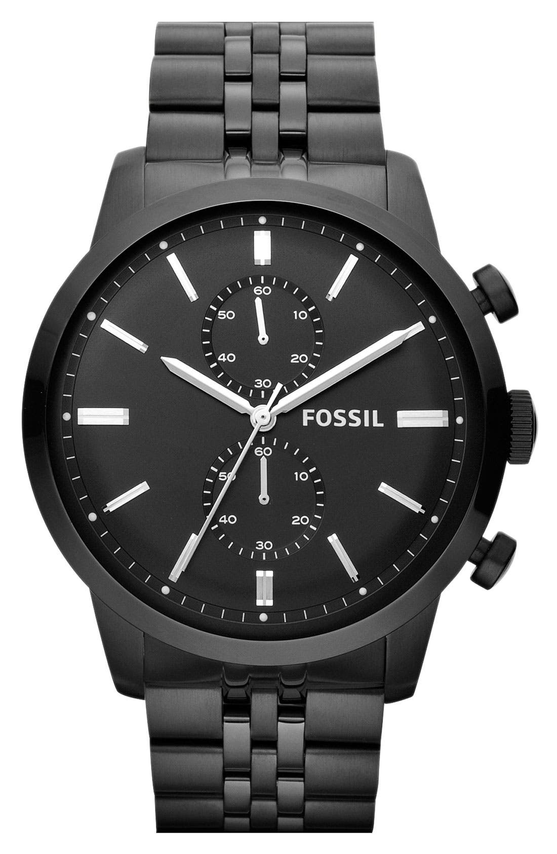 Main Image - Fossil 'Townsman' Chronograph Bracelet Watch, 48mm