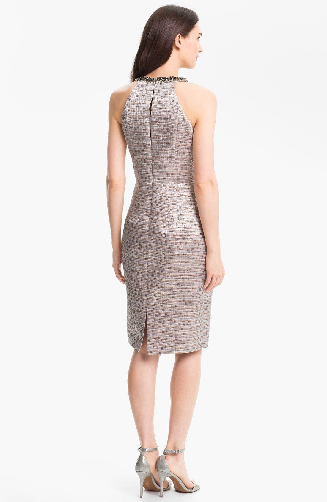 Alternate Image 2  - Maggy London Embellished Brocade Sheath Dress