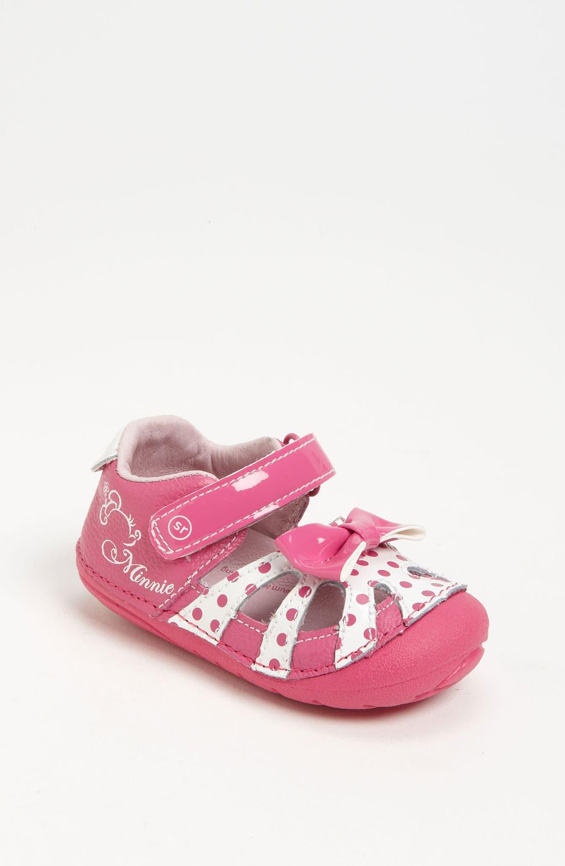 Alternate Image 1 Selected - Stride Rite 'Minnie' Sandal (Baby & Walker)