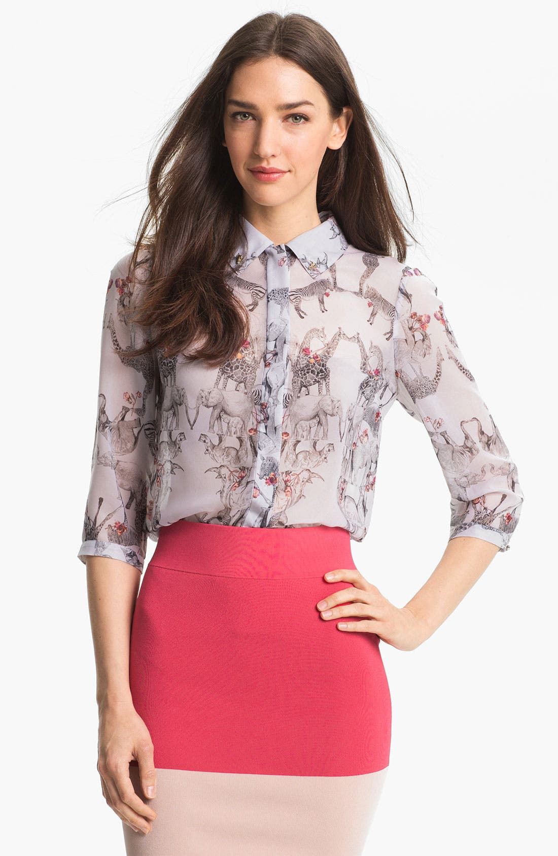 Alternate Image 1 Selected - Ted Baker London 'Safari Play' Print Shirt (Online Only)