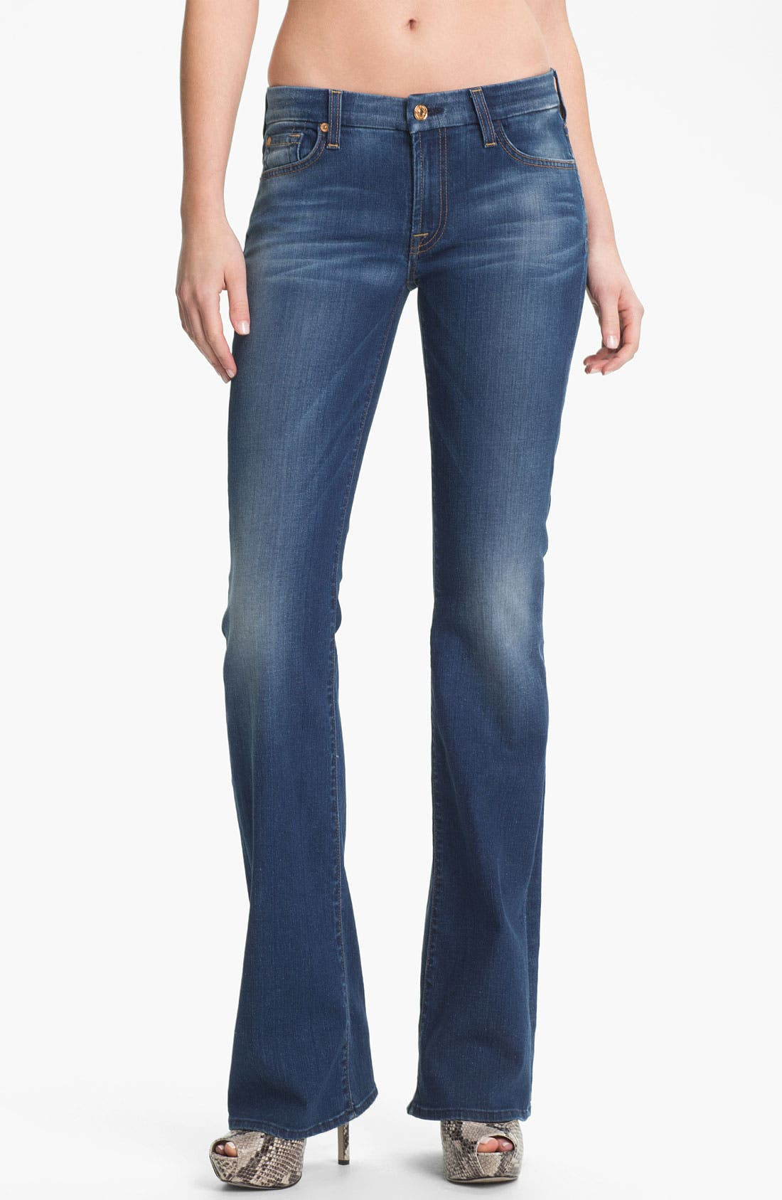 Alternate Image 1 Selected - 7 For All Mankind® 'Kimmie' Bootcut Jeans (Light Blue Stretch)