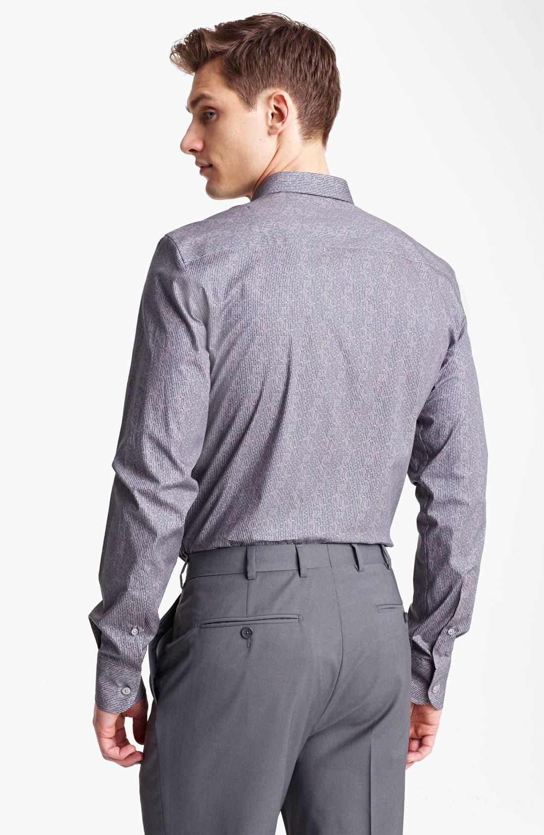 Alternate Image 2  - Z Zegna Textured Print Dress Shirt
