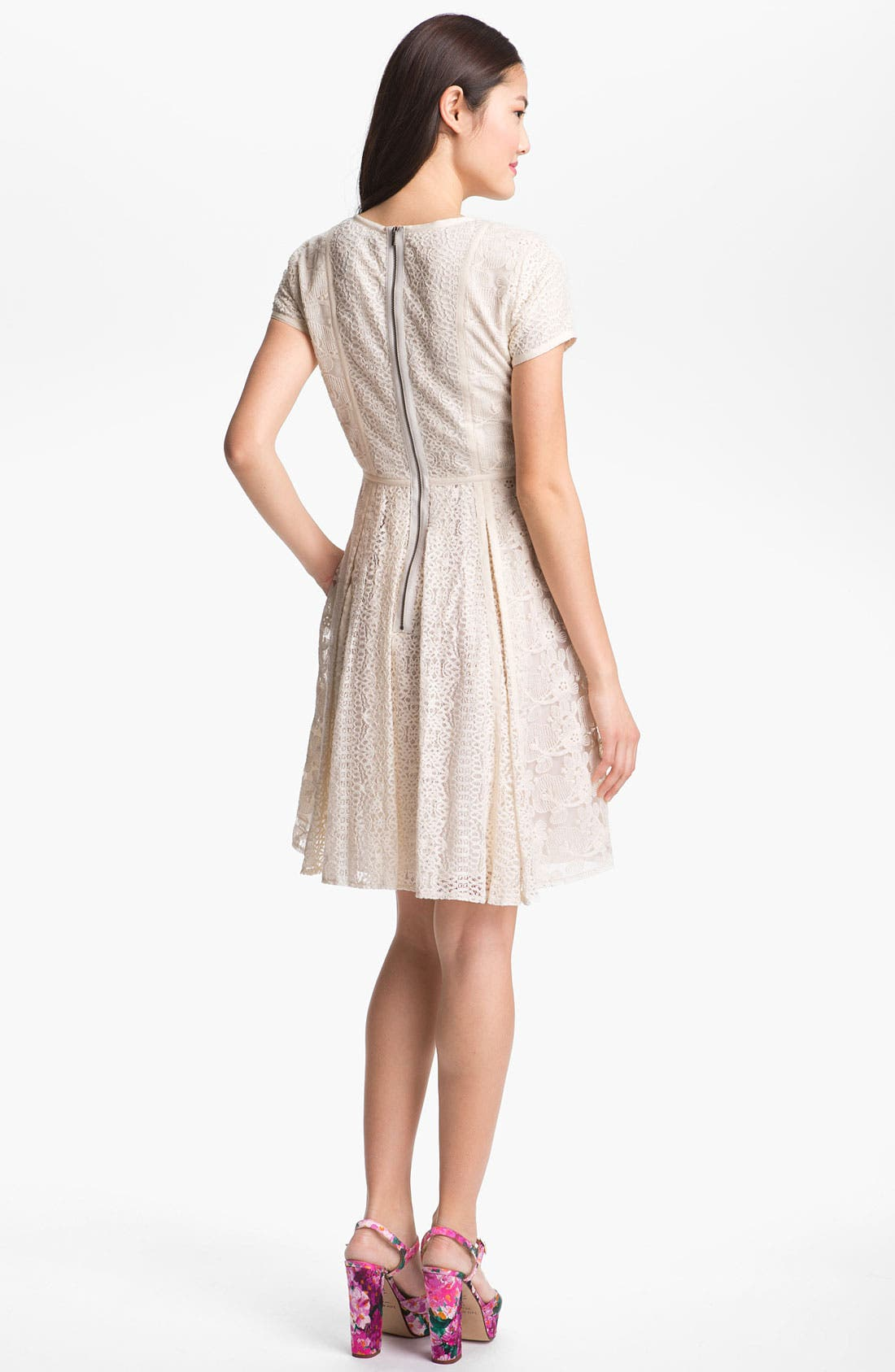 Alternate Image 2  - BCBGMAXAZRIA Embroidered Lace Dress
