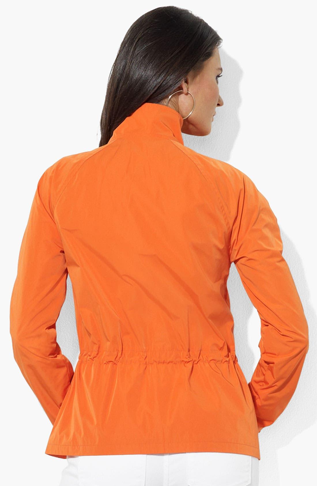 Alternate Image 2  - Lauren Ralph Lauren Drawstring Waist Jacket (Petite) (Online Only)