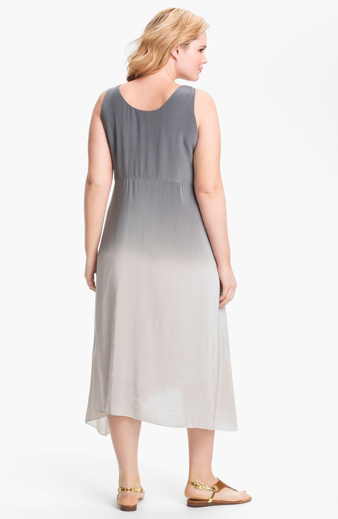Alternate Image 2  - Eileen Fisher Ombré Silk Dress (Plus Size)