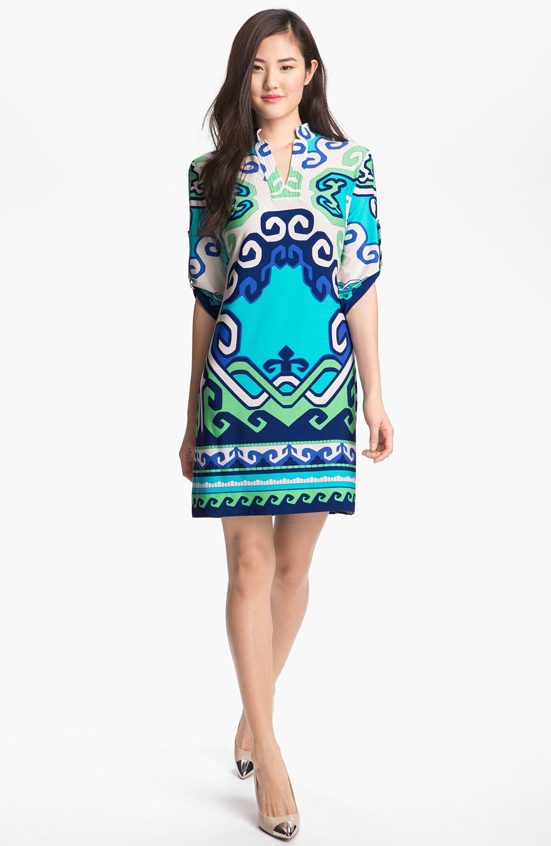 Alternate Image 1  - Donna Morgan Print Jersey Shift Dress