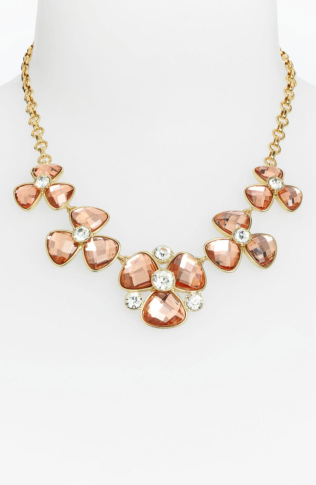 Alternate Image 2  - Anne Klein Floral Collar Necklace