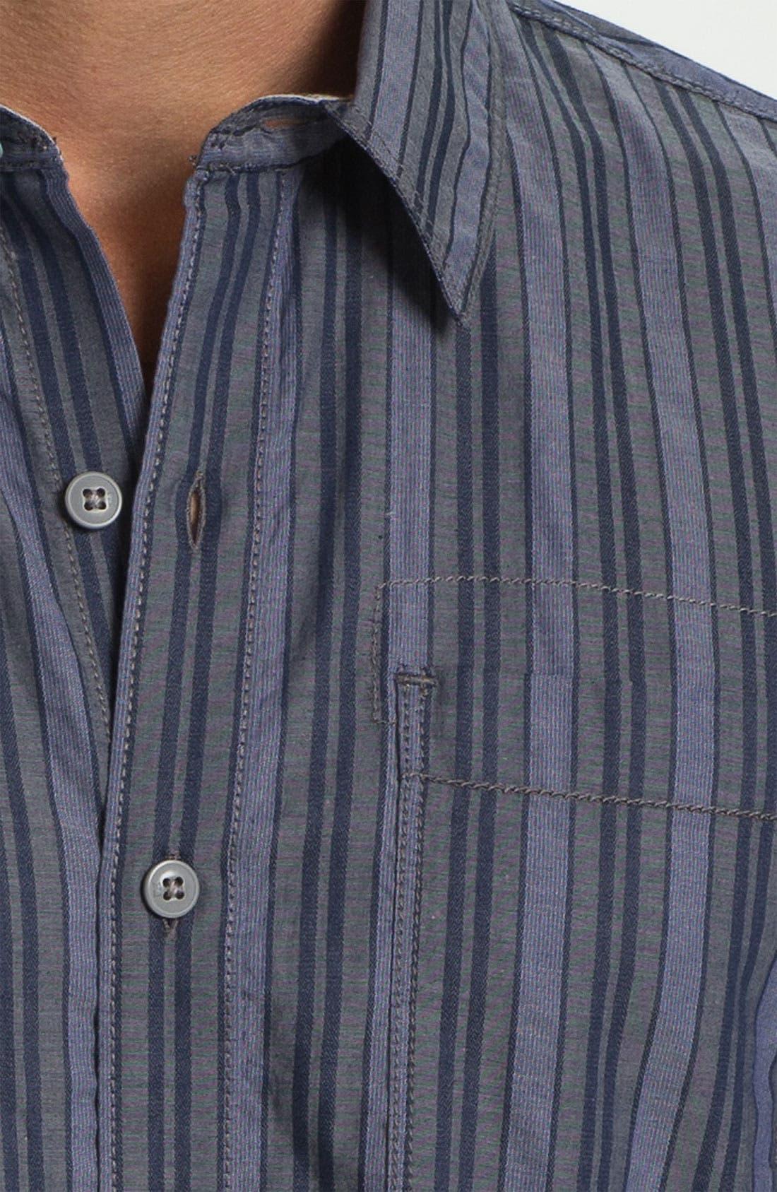 Alternate Image 3  - Cutter & Buck 'Meyer Stripe' Regular Fit Sport Shirt (Big & Tall)