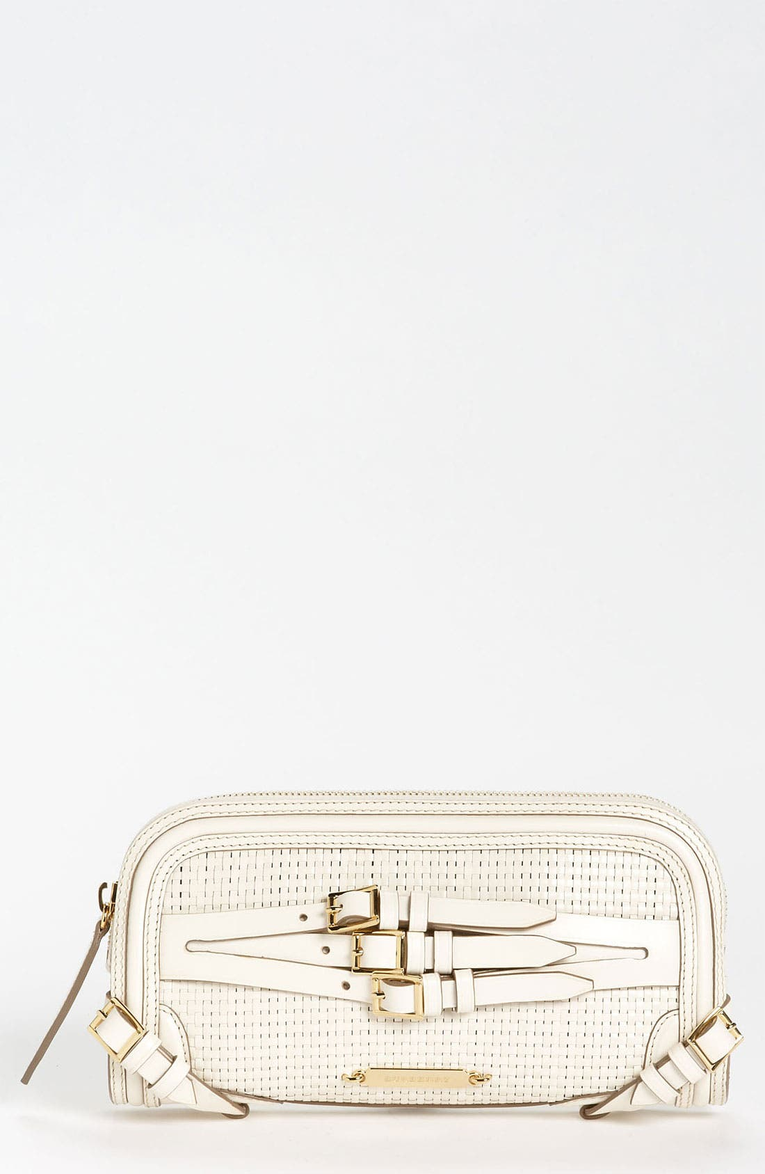 Main Image - Burberry 'Bridle' Woven Leather Clutch